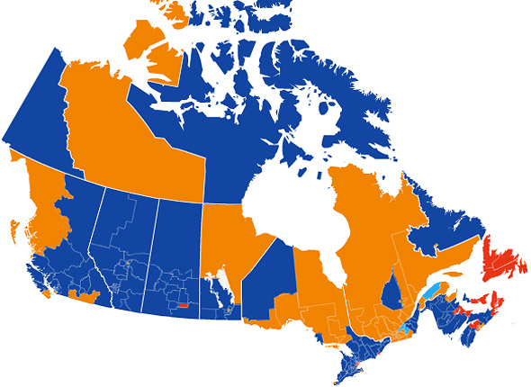 2011 Canadian Electoral Map
